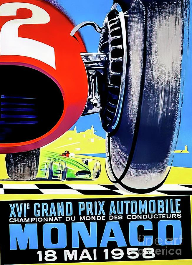 Monaco 1958 Grand Prix Drawing