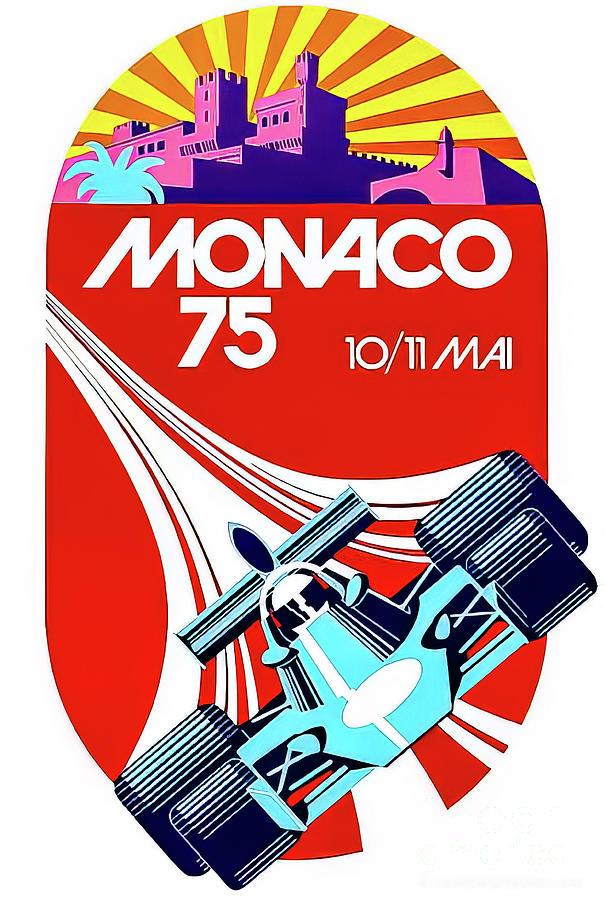 Monaco 1975 Grand Prix Drawing