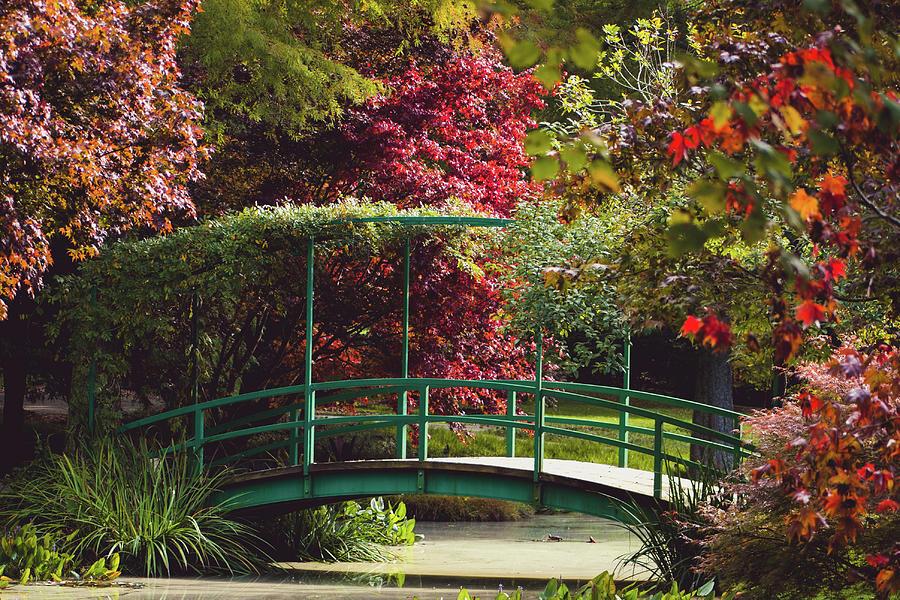Monet Bridge At Gibbs Gardens Photograph