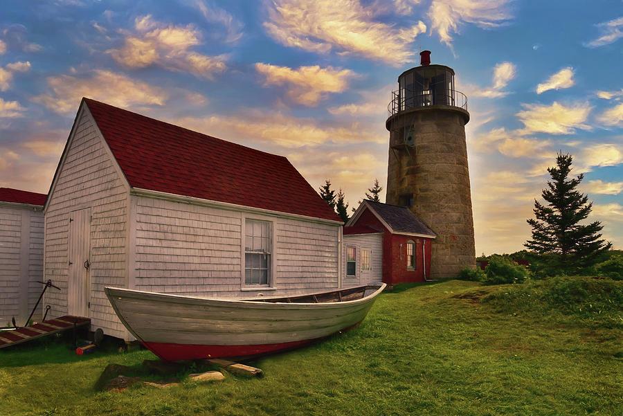 Monhegan Island Light Photograph