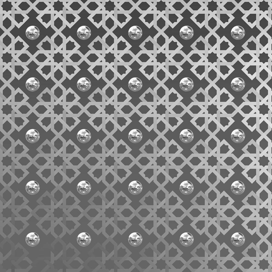 Monochrome Pattern With Spheres Digital Art