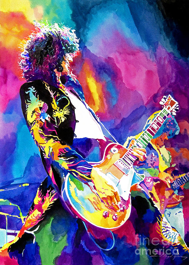 Monolithic Riff - Jimmy Page Painting