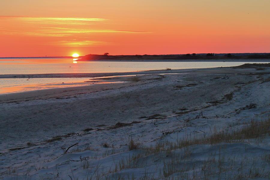 Monomoy National Wildlife Refuge Cape Cod Beach Sunset Photograph