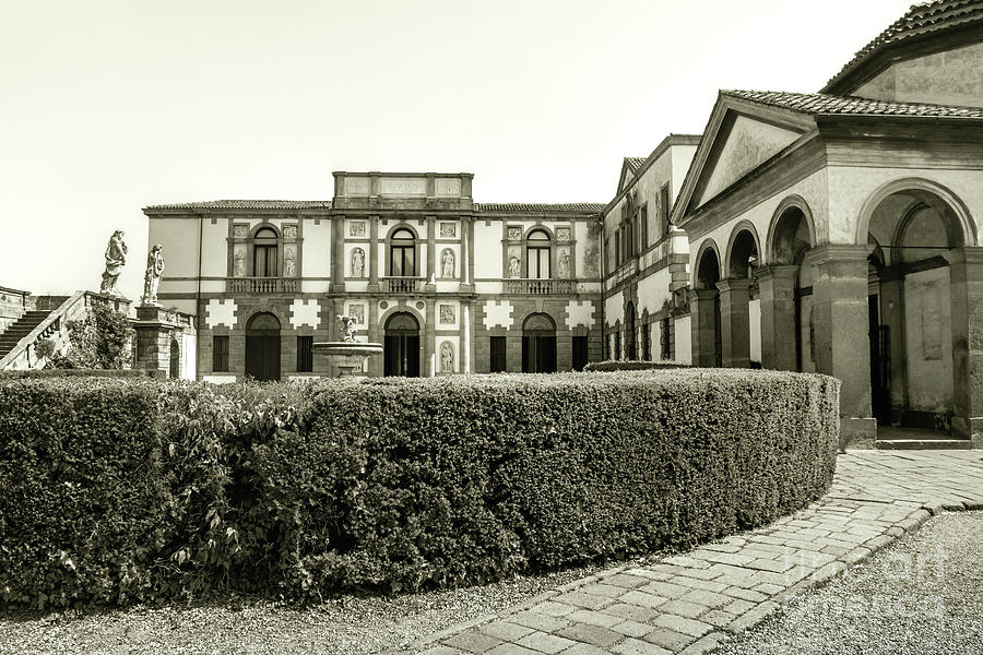 Monselice black and white veneto villa duodo architecture sepia by Luca Lorenzelli