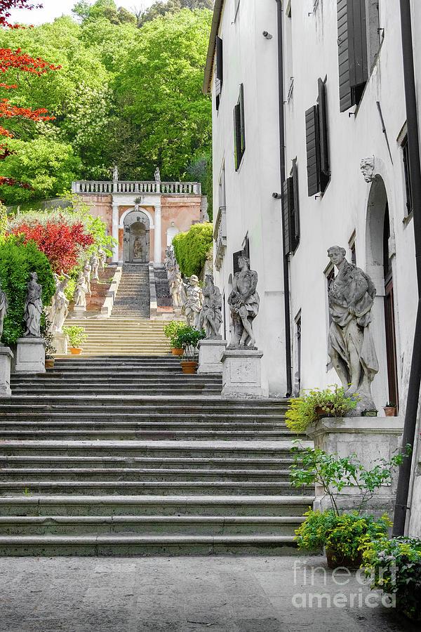 Monselice Padova Veneto villa nani mocenigo steps  by Luca Lorenzelli