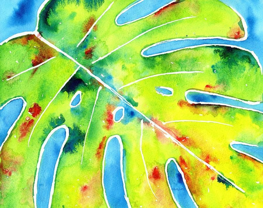 Monstera Tropical Leaves 5 Painting By Carlin Blahnik Carlinartwatercolor This was added to your cart. monstera tropical leaves 5 by carlin blahnik carlinartwatercolor