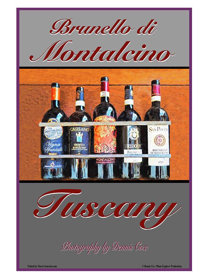 Montalcino Travel Poster Photograph
