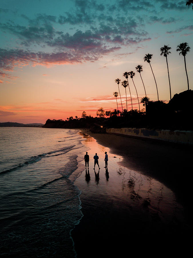 Ocean Photograph - Montecito Threes Company by Seascaping Photography