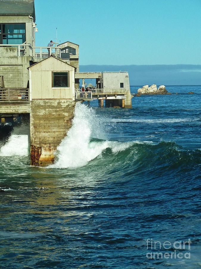 Monterey Ocean Side View Photograph