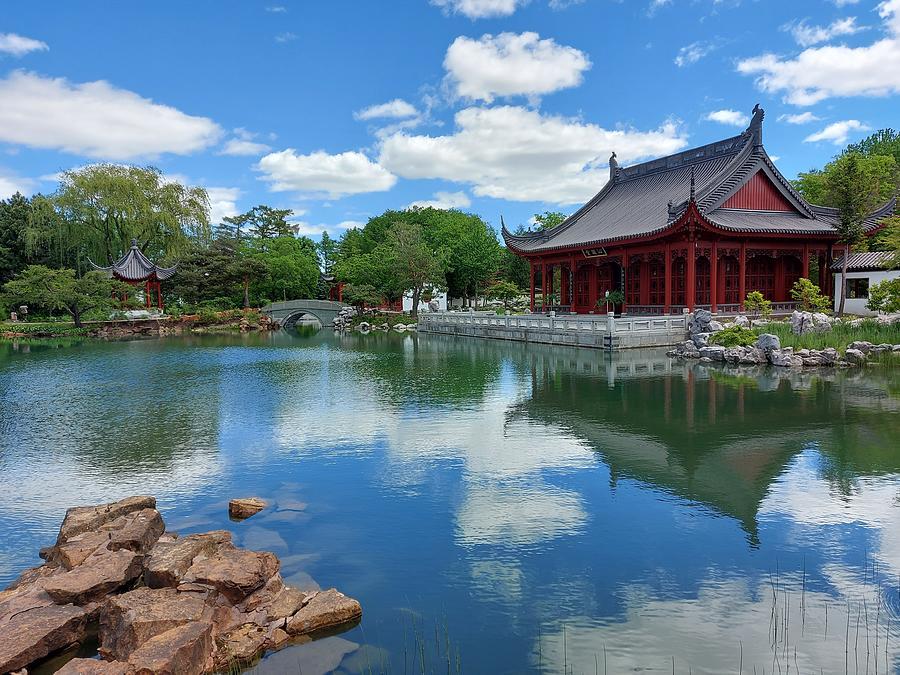 Montreal Botanical Gardens Chinese Pavilion Photograph