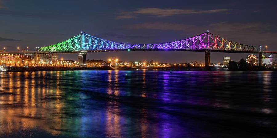 Montreal Jacques Cartier Bridge Illuminated Photograph