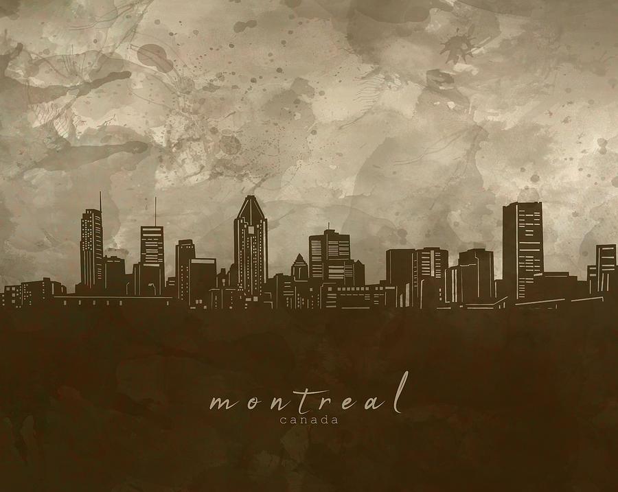 Montreal Skyline Panorama 4 Digital Art