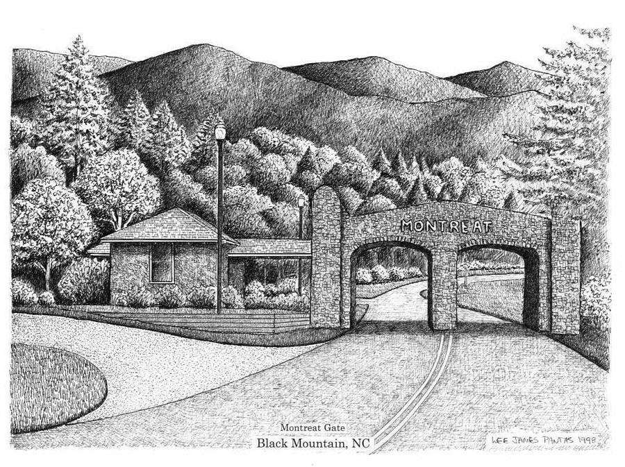 Montreat Gate Drawing by Lee Pantas