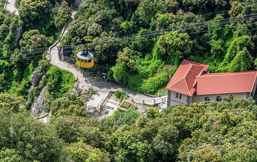 Montserrat Spain Aerial Tram by Douglas Wielfaert