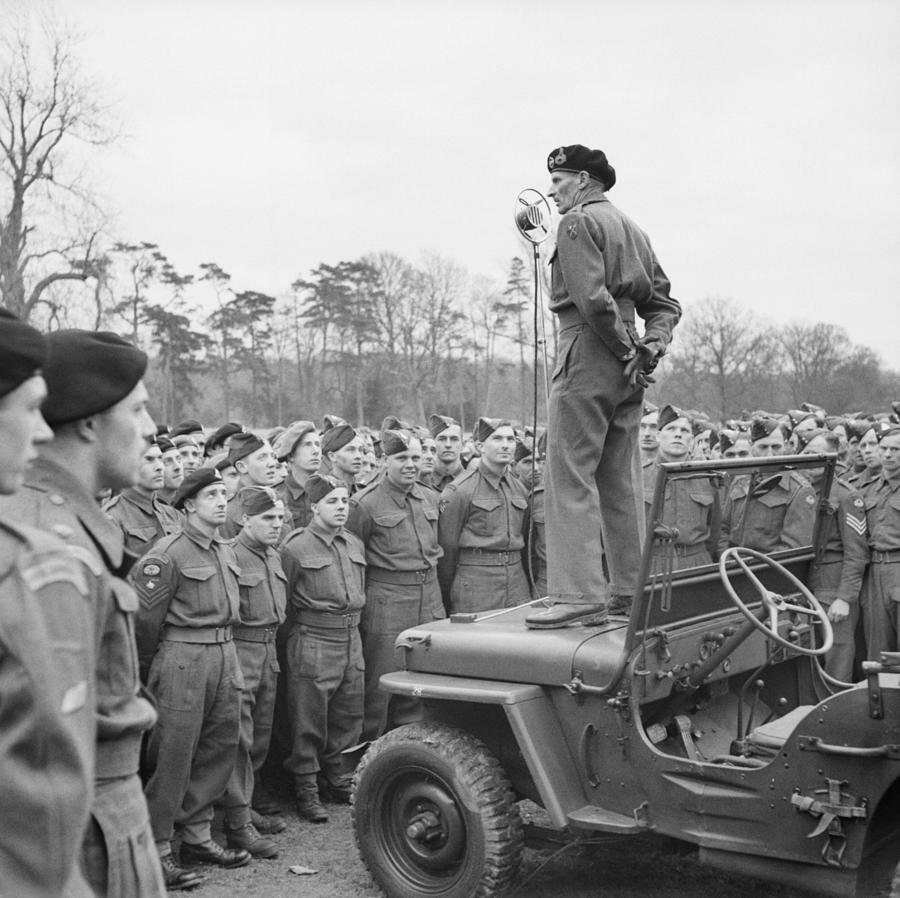 Monty Addressing The Troops - WW2 - 1944 by War Is Hell Store