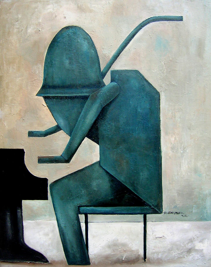 Monument Monk Painting by Martel Chapman