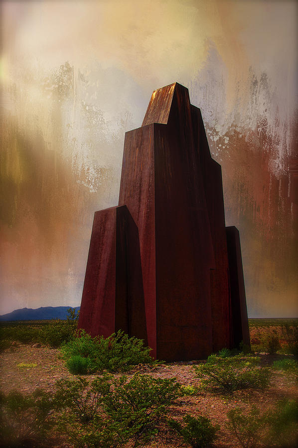 Monument To New Mexicos El Camino Real Photograph