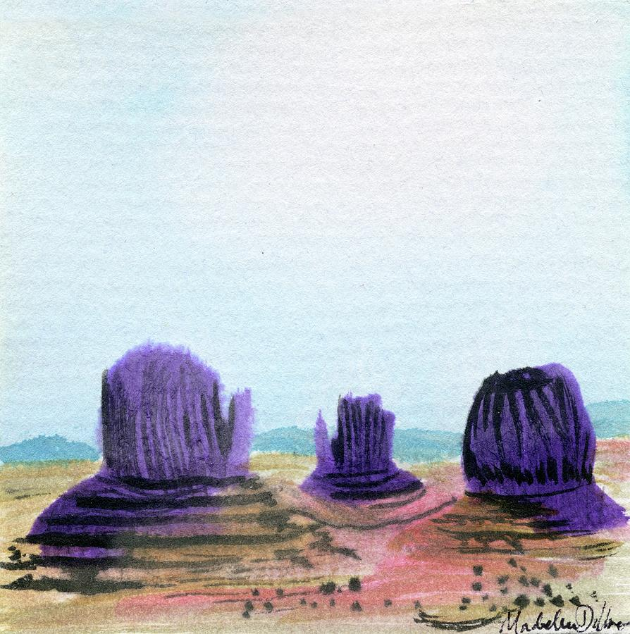 Monument Valley at Noon Painting by Madeline Dillner
