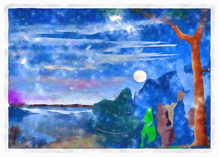 Moodlight Serenade Digital Art
