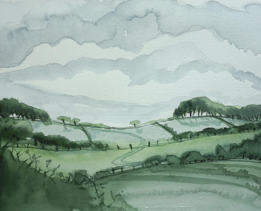 Moody Fields Painting