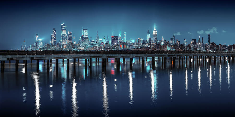 Moody Pier With Whole Manhattan On It Photograph