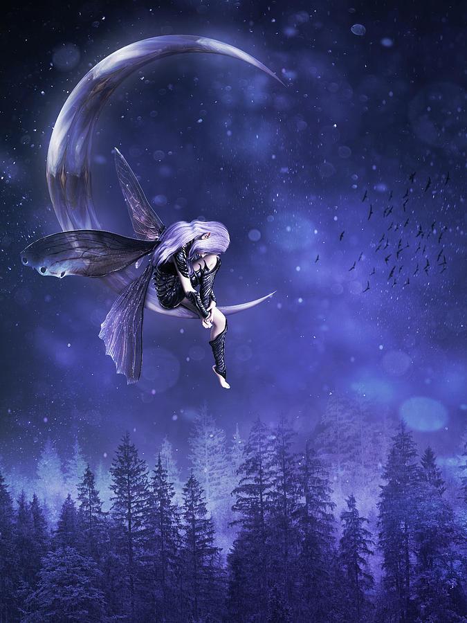Moon Fairy Digital Art