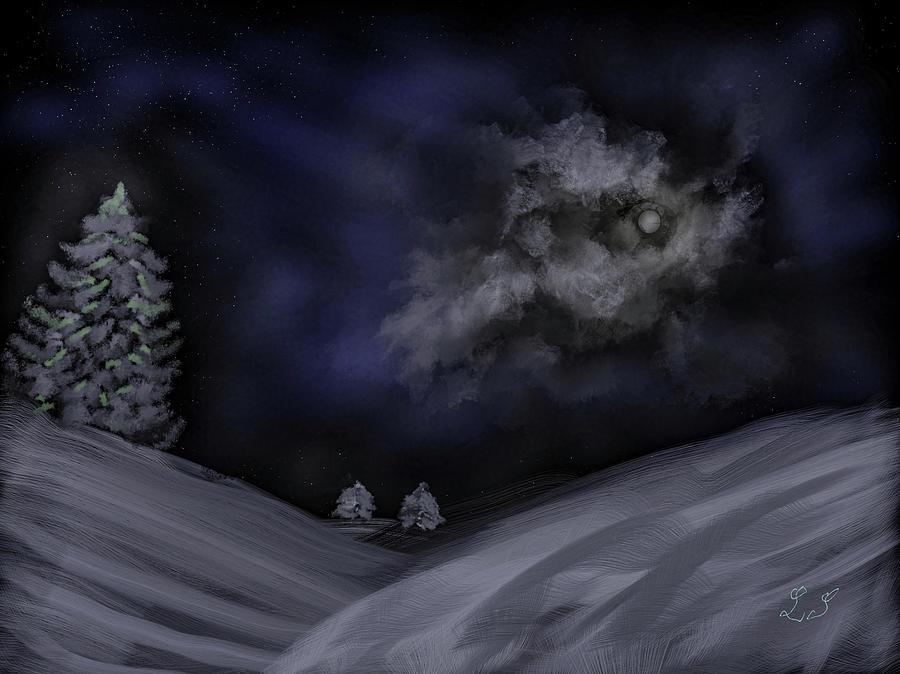 Moon #j3 Digital Art