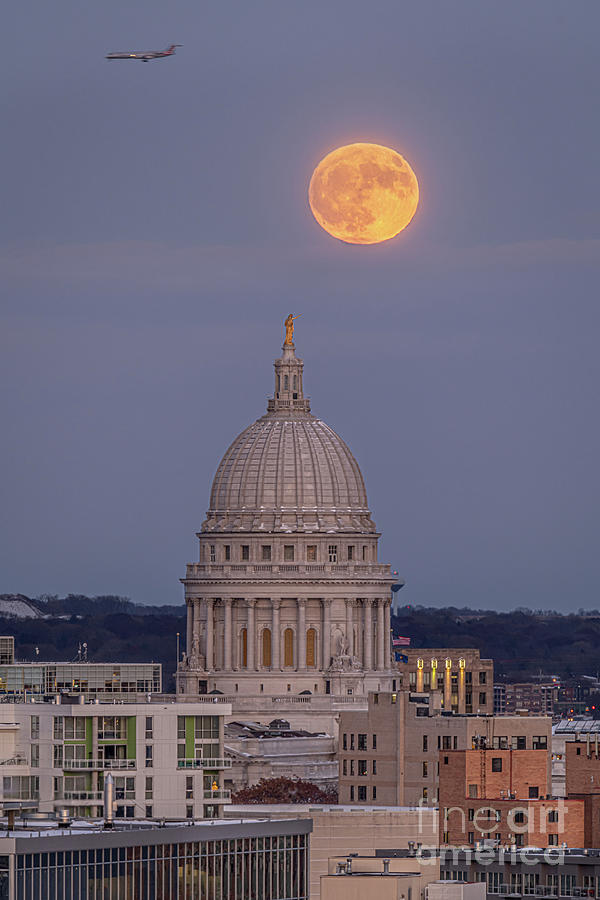 Moon Photograph - Moon Over Madtown by Amfmgirl Photography