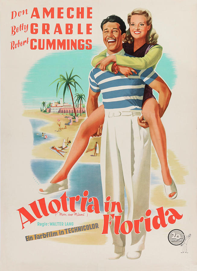moon Over Miami, 1941 -b Mixed Media