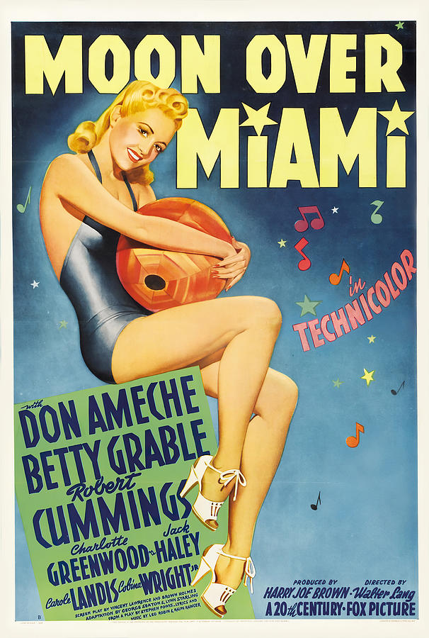 moon Over Miami, With Betty Grable, 1941 Mixed Media