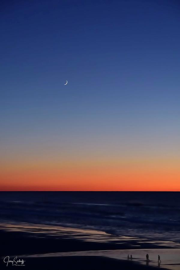 Moon Over Sunset Surf by Jerry Sodorff