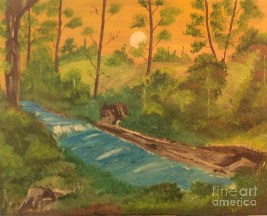 Moon Over The Woods by Donald Northup
