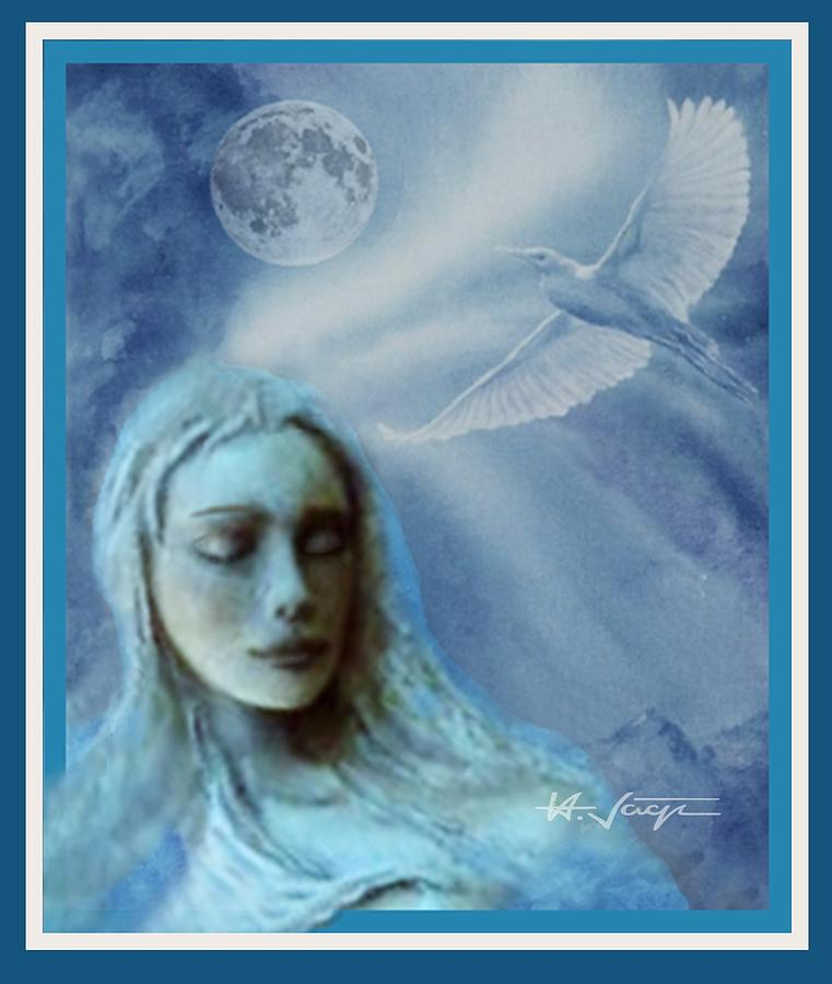 Moon  Spirit  Dreaming Mixed Media