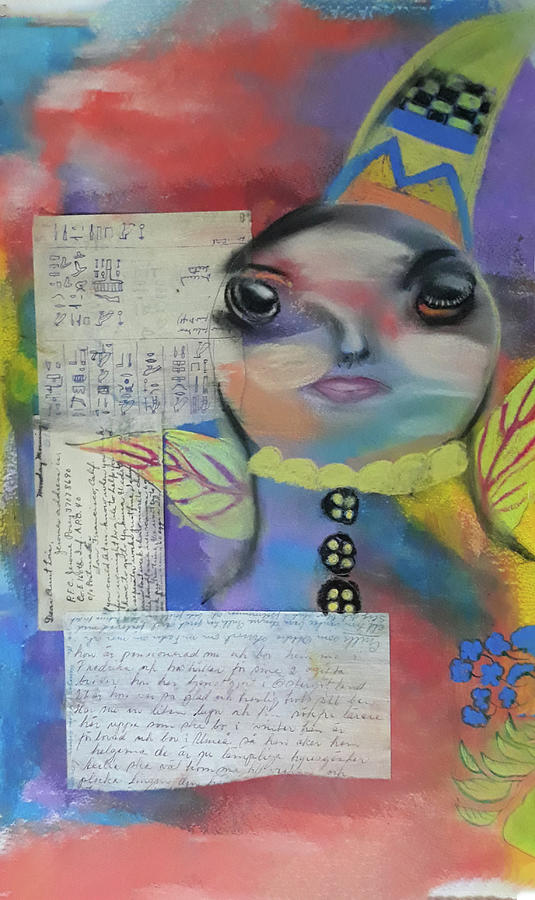 Moonface Mixed Media - Moonface Collage  by Cathy Anderson