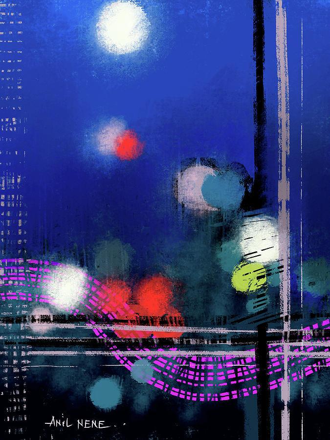 Moonlight Abstract Digital Art