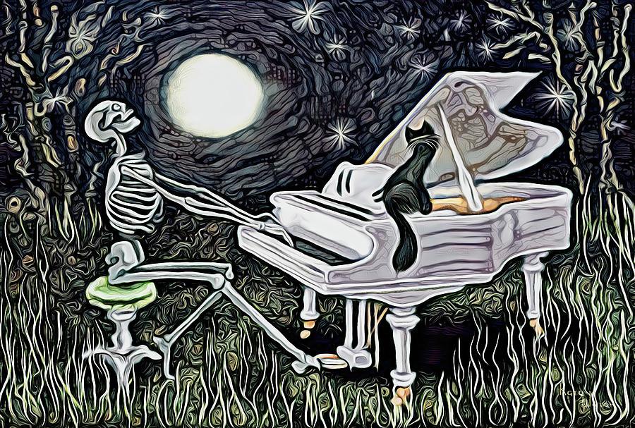 Moonlight Sonata Abstract Digital Art