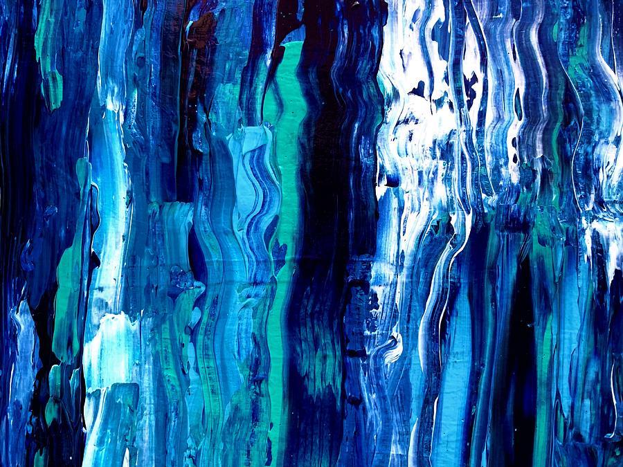 Moonlit Blue Waters Painting