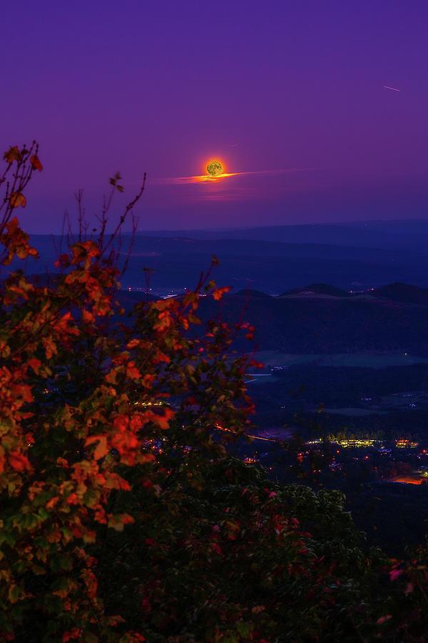 Moonrise At Dans Rock Photograph