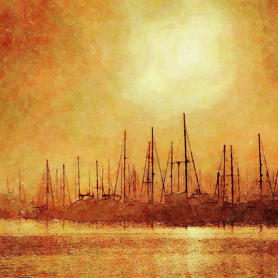 Mooring Yachts Painting