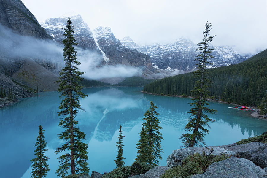 Moraine Lake Dawn by Jemmy Archer