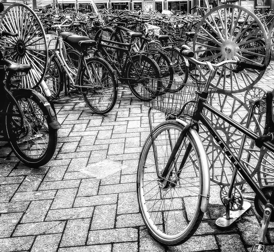 More Amsterdam Bikes Photograph