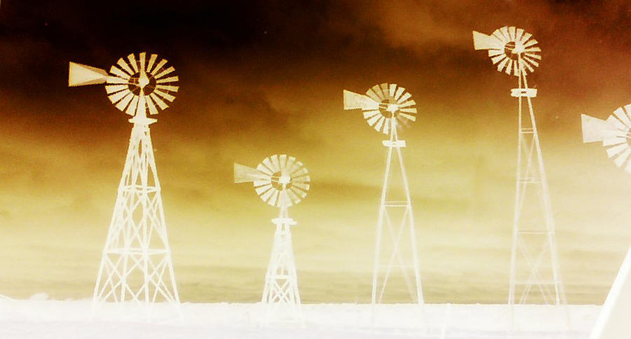 Windmills Photograph - More Dust in the Wind  by Max Mullins