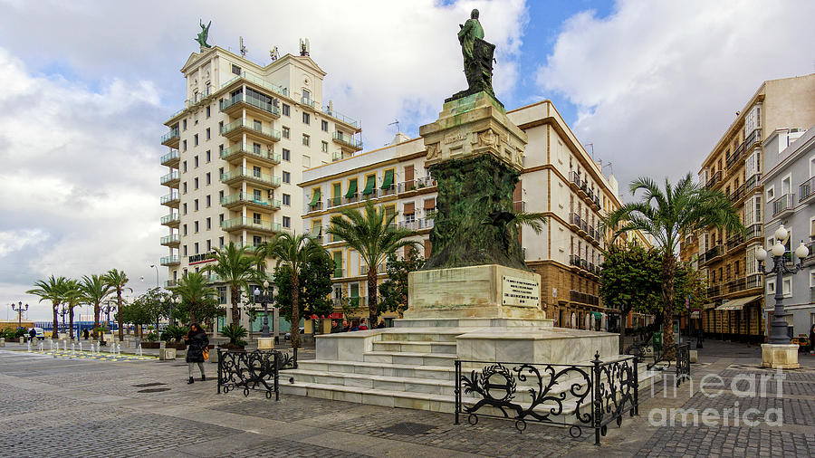 Moret Monument An Fenix Building In San Juan De Dios Square Cadiz Andalusia Photograph