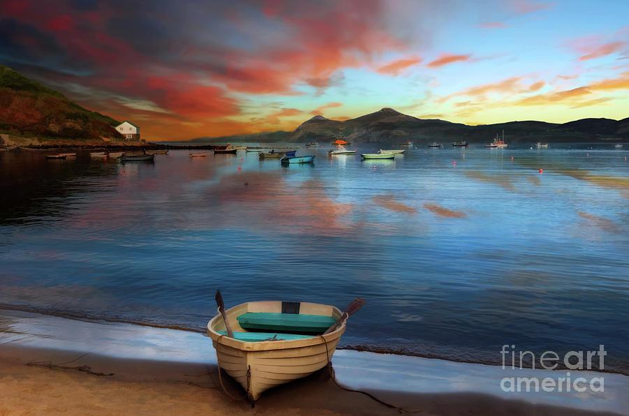 Morfa Nefyn Boats Wales by Adrian Evans