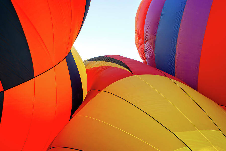 Arizona Photograph - Morning Balloon Launch by Jack and Darnell Est