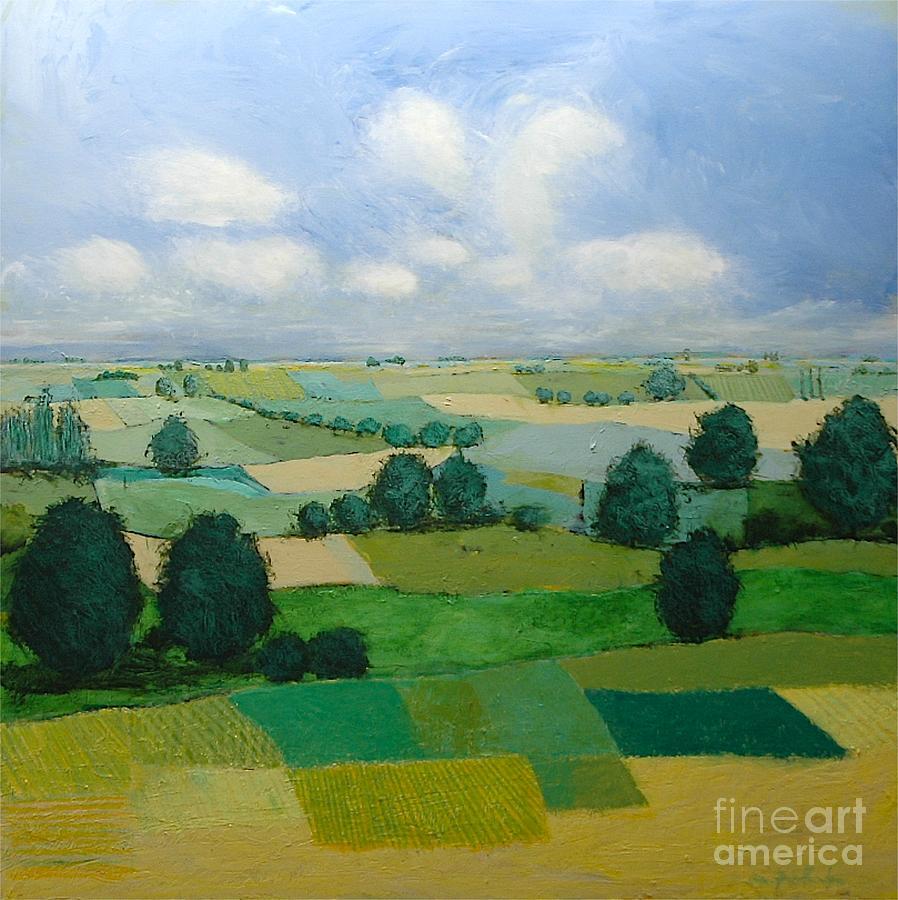 Landscape Painting - Morning Calm by Allan P Friedlander