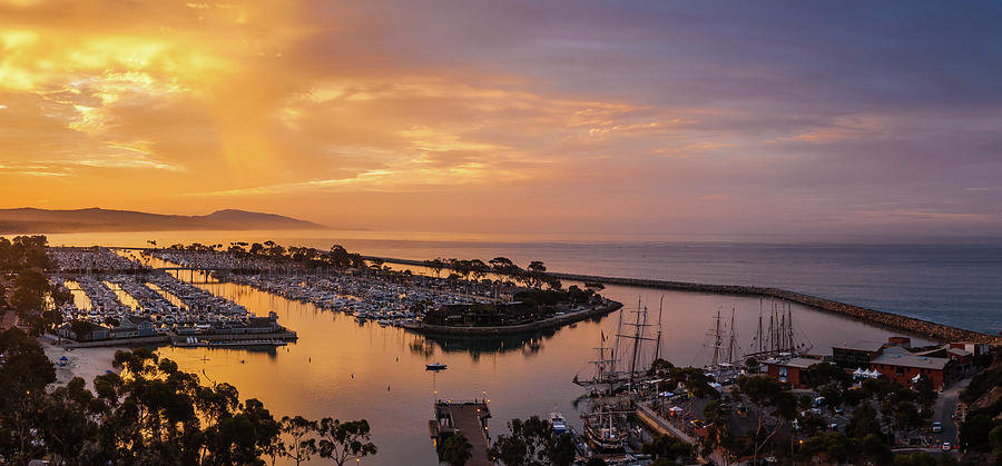 Morning Colors Dana Point Harbor by Cliff Wassmann