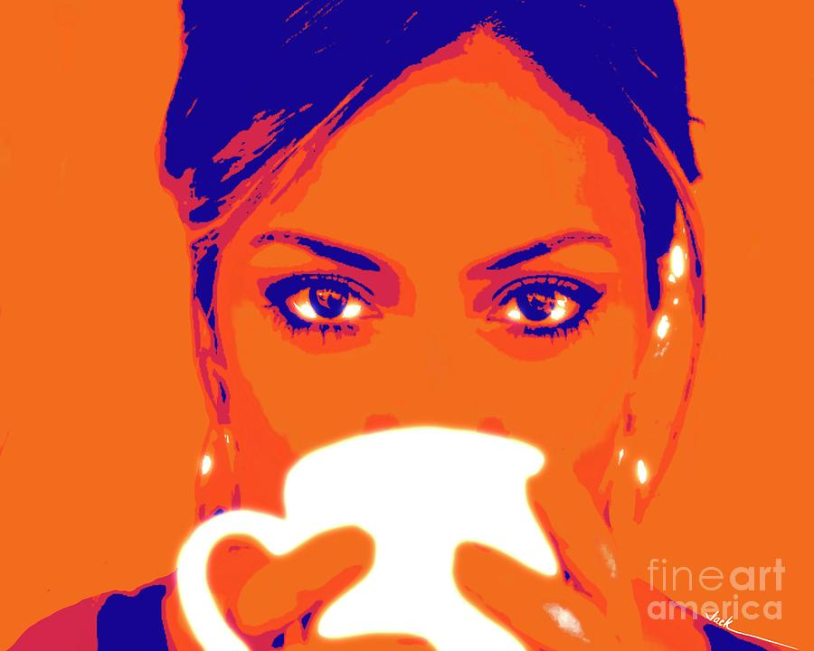 Coffee Painting - Morning Cup by Jack Bunds