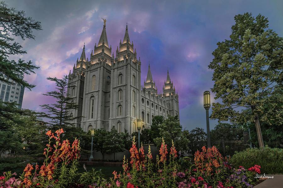 Salt Lake Temple Photograph - Morning Devotional by David Simpson