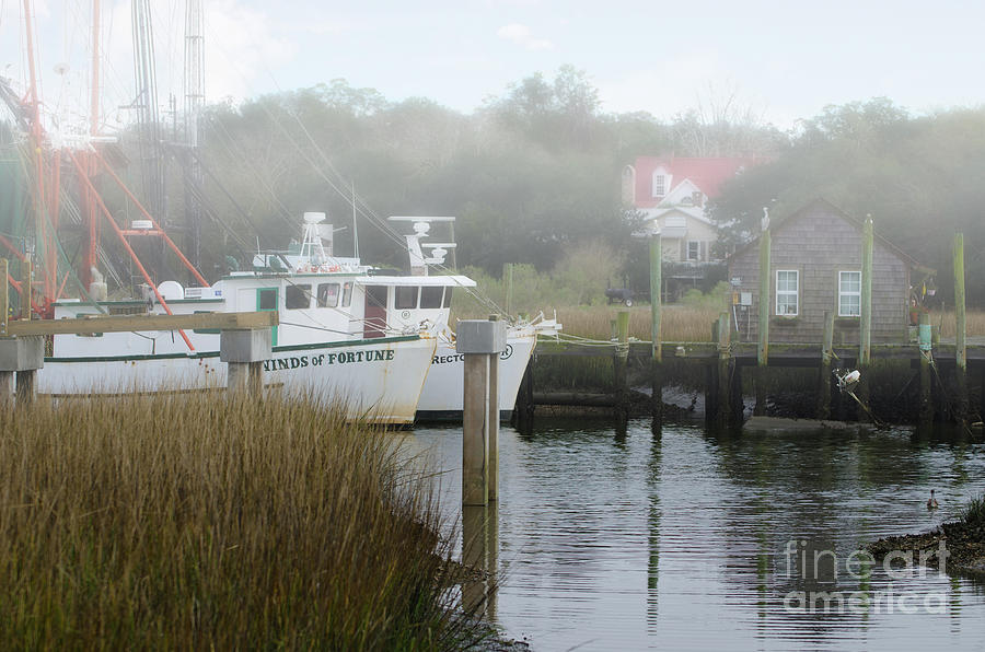 Morning Fog Over Winds Of Fortune On Shem Creek Photograph